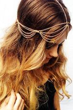 Bohemian Gold Hair Head Chain Boho Headpiece Headband Hippie Summer Festival