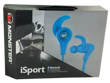Monster iSport Bluetooth Wireless Headphones - In-Ear - High Performance - Blue