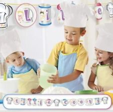 Amscan Little Cooks Birthday Party Pop Up Banner 2.2m X 15cm