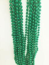 5 Dozen (60) Green Mardi Gras Beads Necklaces - Party Favors-Free Shipping!