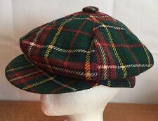 United Hatters Cap Vintage Cabbie Newsboy Cadet Hat Plaids Checks Sz Large RARE