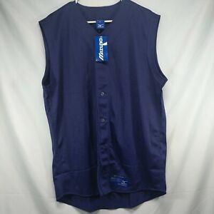 NWT Mizuno XL Baseball Sleeveless Mesh Jersey Shirt Vest New Purple