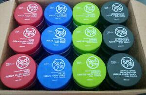RED ONE Aqua Hair gel WAX | Full Force Maximum Control | FULL BOX - Mix n Match