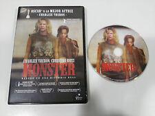 MONSTER DVD CHARLIZE THERON CHRISTINA RICCI ESPAÑOL ENGLISH REGION 2