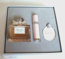 Christian Dior MISS DIOR Gift Set: EDP 3.4oz+Travel Spry 0.25+Ceramic Ltd Ed Box