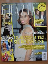 GRAZIA 12/2013 MAGDA ROZCZKA,Angelina Jolie,Anja Rubik,Madonna,Kylie Minogue