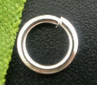 500 SILVER PLATE STRONG OPEN JUMP RINGS~ 7mm x 1mm ~CHARMS~PENDANTS~SEWING (60E)