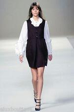 CHLOE DRESS 100% Cotton Knit Tank Top Shift Ivory Beige Medium $1380+ NEW w TAGS