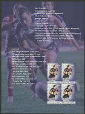 AUSTRALIA 2012 BILLY SLATER Rugby LEGEND Souvenir Sheet ex Prestige Booklet MNH