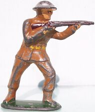 All Nu Hollow Cast Lead Ww1 Soldier An7 Standing Firing Rifle Good Condition