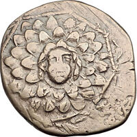 AMISOS in PONTUS 105BC Mithradates VI the Great - Gorgon Nike Greek Coin i64913