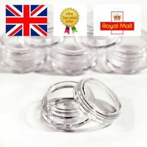 10ml 10g Plastic Sample Pot Jar Glitter Make Up Cosmetic Nail Art gel Travel jfc