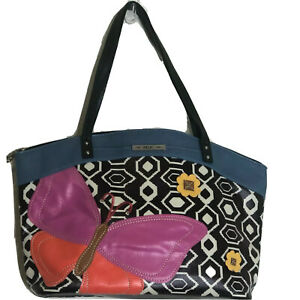 Relic Caraway Butterfly Shoulder Bag Colorful Butterfly with Black White Pattern