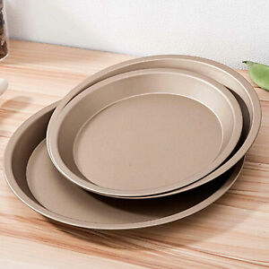 ROUND NON-STICK BAKING COOKING OVEN SHEET ROASTING DISH CARBON STEEL TRAYS