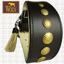 WOZA Premium Windhundhalsband Vollleder Greyhound Rindnappaleder Collar AWHS01