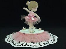 Ballerina Cake Topper, Baby Shower, Birthday, Girl, Ballet, Pink