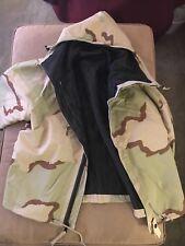 US MILITARY ARMY CAMO CAMOUFLAGE HOODED JACKET USED Size Medium Regular