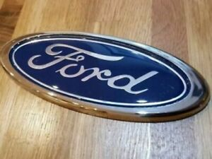 Ford Blue 115mm x 45mm Badge Emblem front rear Boot mondeo fiesta connect