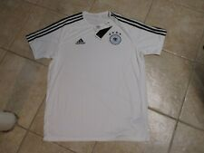 "GERMANY ""ADIDAS"" AUTHENTIC SOCCER PLAYERS JERSEY (XL) NWT $45 PRINTED LOGOS"