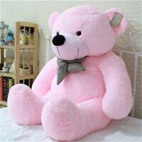 Schöne Riesen Großen Rosa Plüsch Teddy Teddybär Weiche 100 % Top Baumwolle Puppe