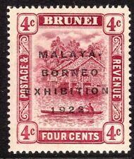 Brunei 1922 Exhibition claret 4c mint SG54