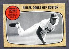 1968 Topps #153 World Series #3  Nelson Briles   Ex/Mt+