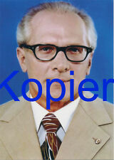 Cartolina Erich Honecker segretario generale del CDC della SED 14,8 x 10,5 cm III