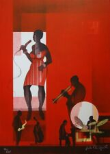 Sacha CHIMKEVITCH : Jazz, Hot swing - LITHOGRAPHIE ORIGINALE SIGNEE N°