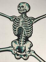 VTG Beistle Halloween Jointed paper Cardboard Skeleton Decoration