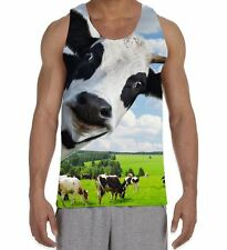Cow Herd Funny Men's All Over Print Vest Tank Top - Farm Animal Funny Cute