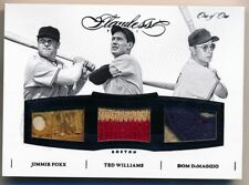 2016 Flawless * FOXX * TED WILLIAMS * DIMAGGIO * Triple Game Used Patch * #1/1