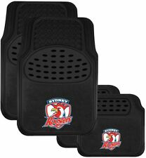 NRL Car Floor Mats - Sydney Roosters - Set Of 4 - Universal Size Fit - BNWT