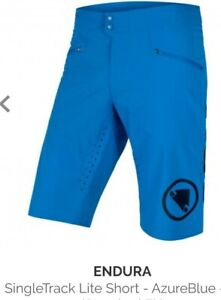 Endura Mens SingleTrack Shorts blue  L New with Tags