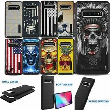 Shockproof Case for [Samsung Galaxy S8+/S8 Plus], Black Hybrid Dual Layer Cover