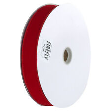 Christmas Velvet Ribbon Wired Edge, Solid Red, 1-1/2-Inch, 50-Yard