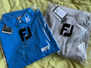 FootJoy Golf Polo Shirt & Jumper Chill Out Top Set - Large - BRAND NEW