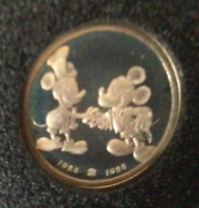 Rarities Mint .999 Fine Silver 1/10 Troy oz. Mickey Mouse 60 years coin