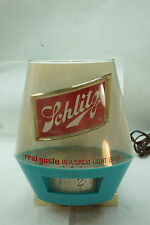Vintage Schlitz Beer Sign Lighted Motion Wheel Spins Metal Plastic 1960s Bar
