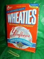 New York Yankees General Mills Wheaties World Series Cereal Box 1996 Sealed 18oz