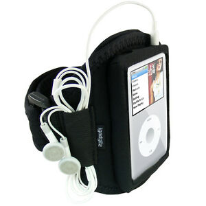 Black Sports Armband for Apple iPod Classic 80gb 120gb 160gb Gym Running Jogging