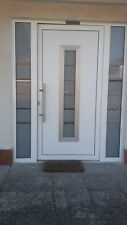Aluminum Schuco door + 2 side panels - made to any size - triple glazed