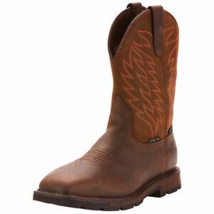 Ariat Mens Groundbreak Waterproof Steel Toe Work Safety Western Boots 10024992