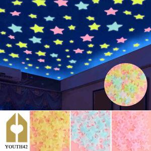 500 Pcs 3D Wall Glow In The Dark Stars Stickers Kids Bedroom Nursery Room Decor