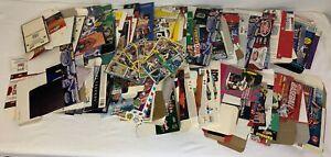 Lot De 107 Échange Carte Boîtes Seulement + 10 Panneaux ~ SPORTS Et non-Sports