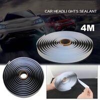 Car Truck Headlight led Retrofit Reseal Strip Butyl Rubber Glue Sealant 4M Black