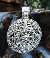 Bohemian Flower Silver Pendant Charm Vintage Tibetan Leather Necklace Chain New