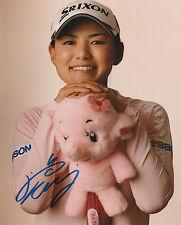 SAKURA YOKOMINE SIGNED AUTO'D 8X10 PHOTO POSTER LPGA TOUR JAPAN SRIXON A
