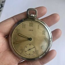 Oris Vintage Swiss Made Mechanical Pocket Watch With Sub-second Dial