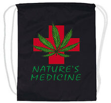 Medical marijuana weed cannabis pot 420 drawstring backpack tote bag cinch sack
