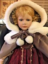 """""""Gwendolyn"""" Delton Products Victorian Porcelain Doll 694/2500 in Box 30"""""""